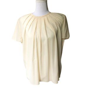 Burberry Pleated Silky Top Medium